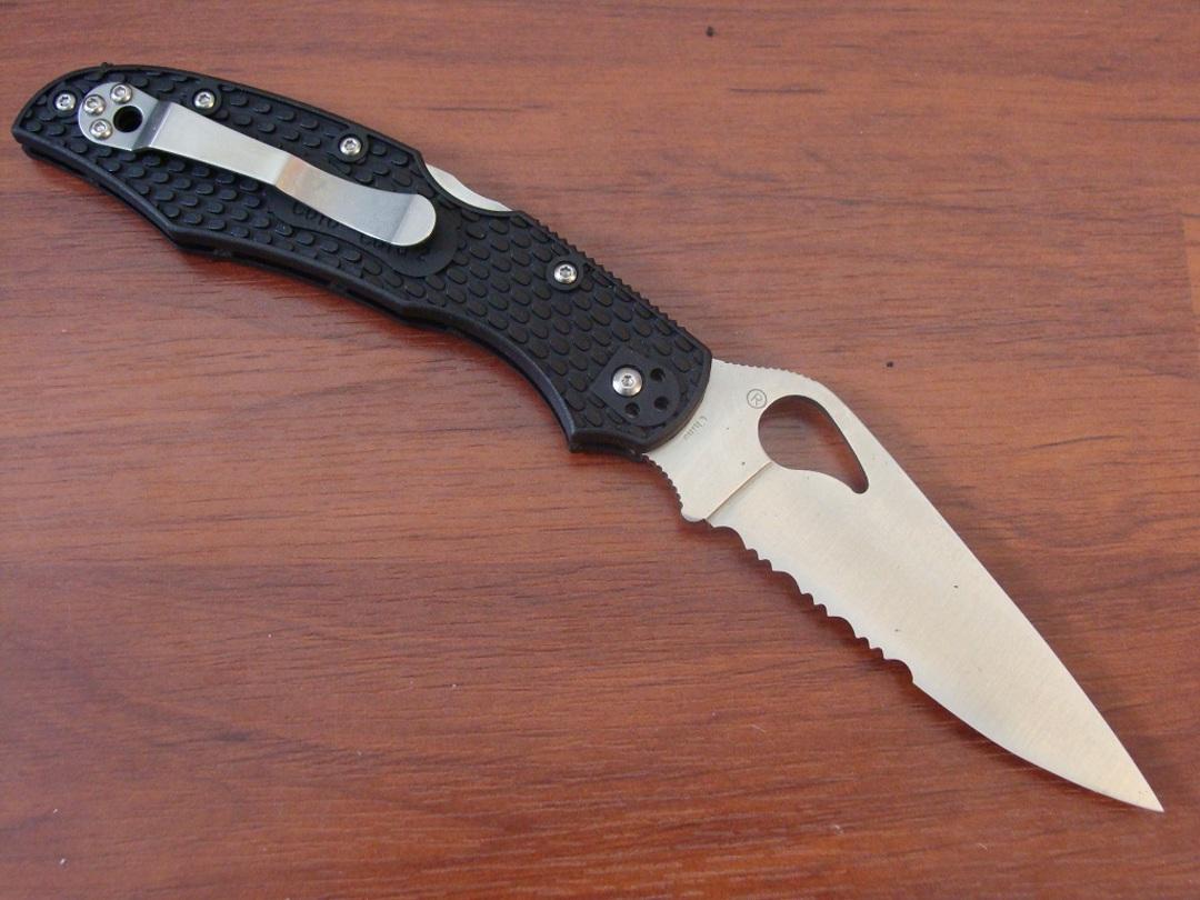 BYRD Cara Cara 2 Combo Folding Knife - BY03PSBK No Box image 1