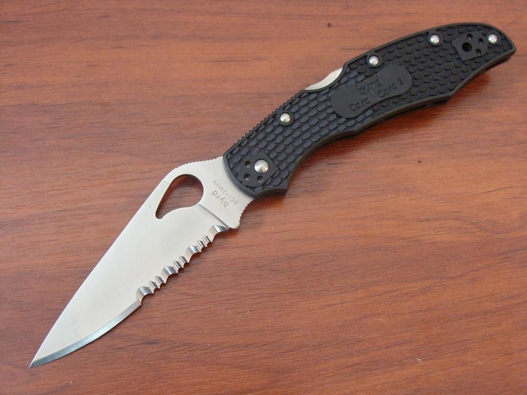 BYRD Cara Cara 2 Combo Folding Knife - BY03PSBK No Box image 0