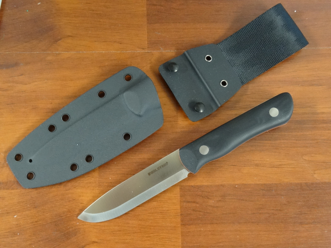 Real Steel Knives Bushcraft III Fixed Blade Knife,  D2 Scandi Grind image 0