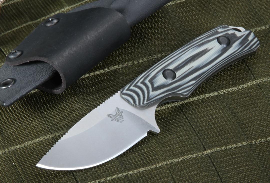 Benchmade Hunt Hidden Canyon Hunter Fixed S30V Blade, Contoured G10 Handles, Kydex Sheath image 0