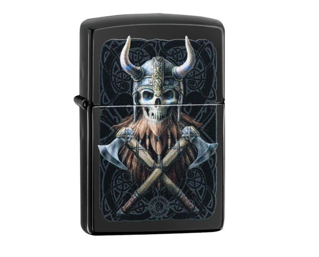 Zippo Anne Stokes Skull with Axes image 0
