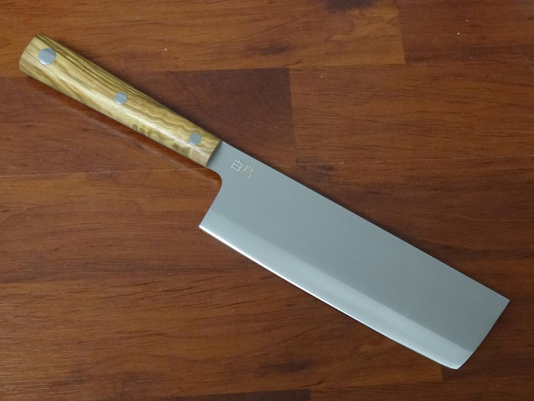 "Due Cigni  ""Hakucho"" Serie Usuba Olive Wood Handle image 0"