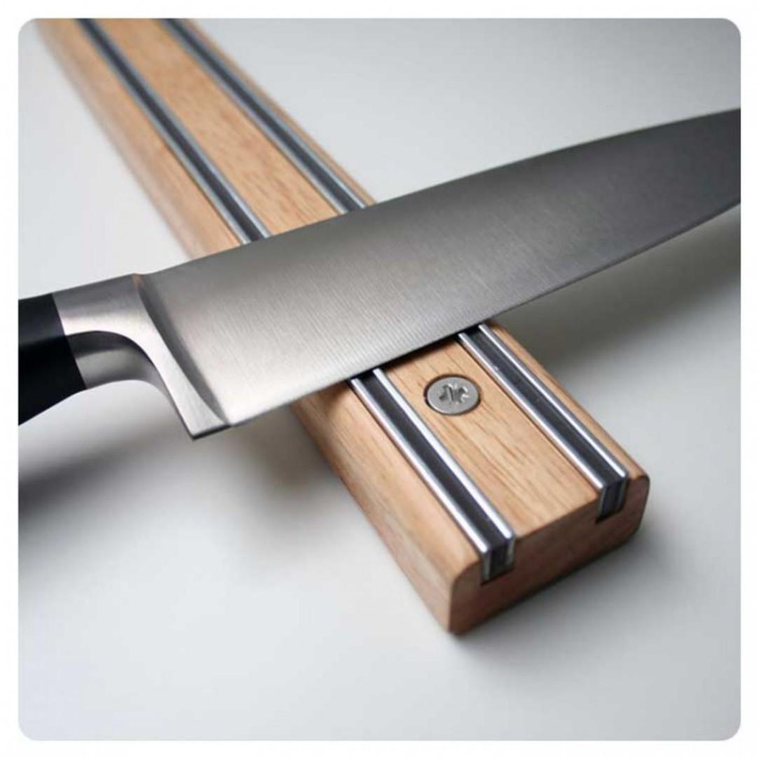Bisbell Bisigrip Rubberwood Magnetic Knife Rack 45cm image 0