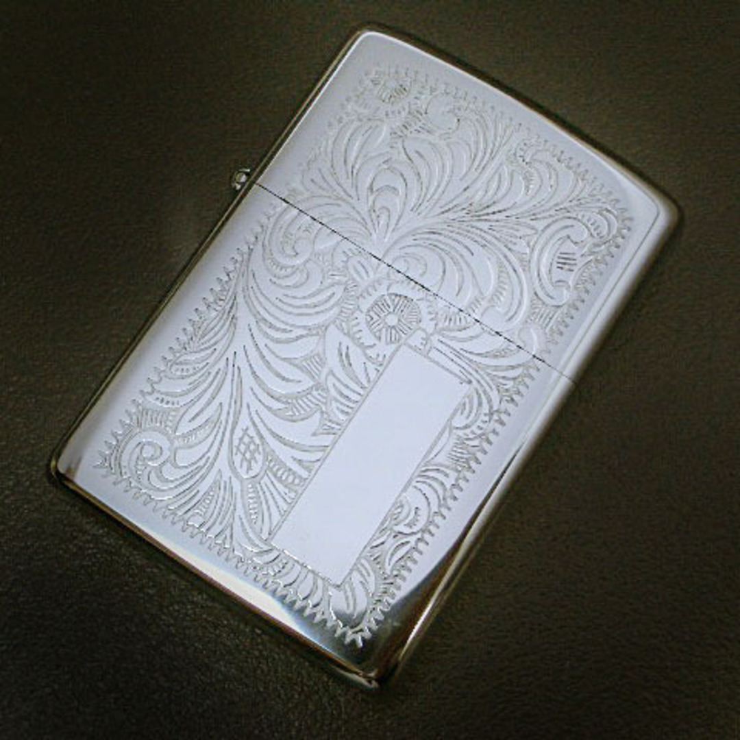 Zippo Venetian High Polish Chrome Lighter image 0