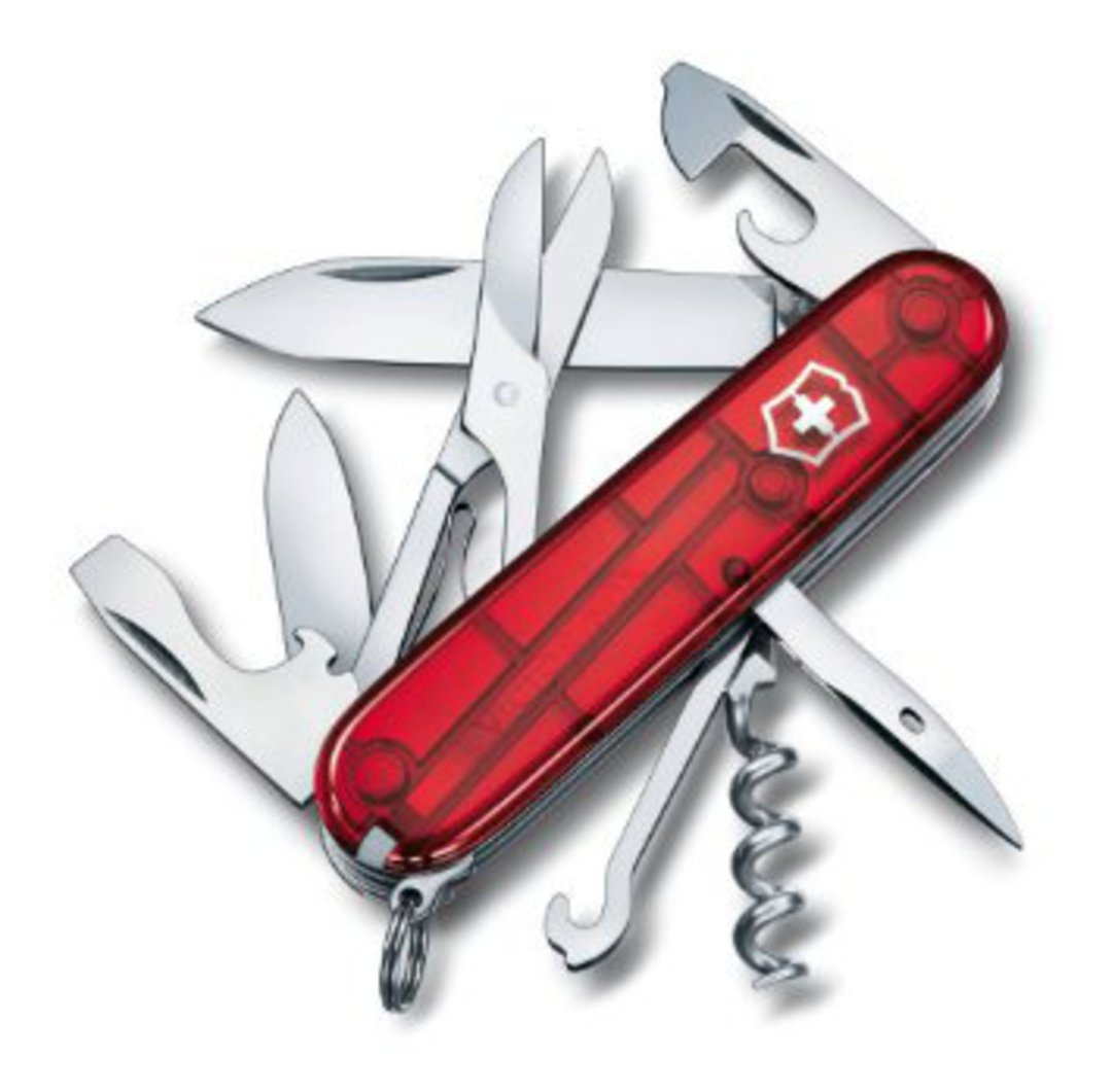 Victorinox Climber Swiss Army Knife - Translucent Red image 0