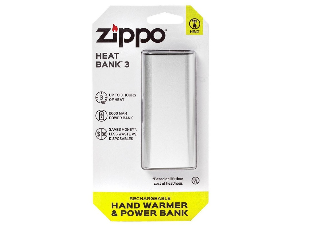 2 X ZIPPO Silver HeatBank™ 3 Rechargeable Hand Warmer image 0