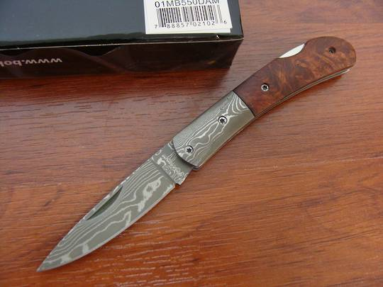 Boker Magnum Damascus Quincewood Folding Knife