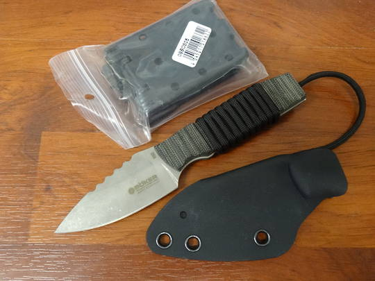 German made Boker Plus Bender Stonewash Fixed Knife - 120622 no box