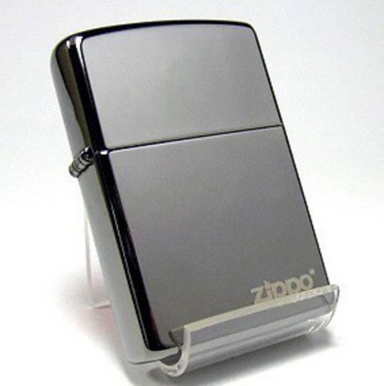 Zippo Black Ice with Zippo Logo Lighter