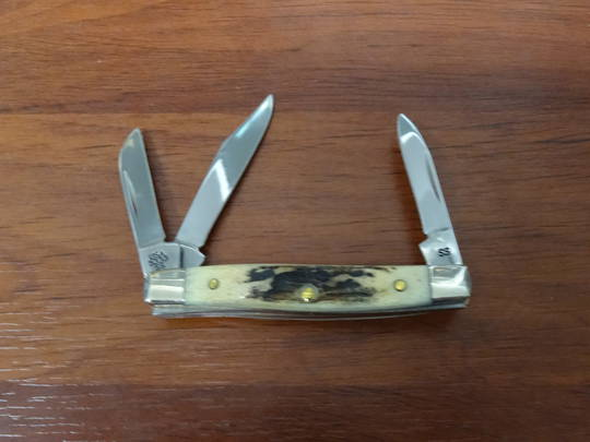CASE CUTLERY INDIAN SAMBAR STAG SMALL STOCKMAN KNIFE - 178 no box