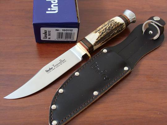 "Linder Traveller Stag Knife 9"" German made"