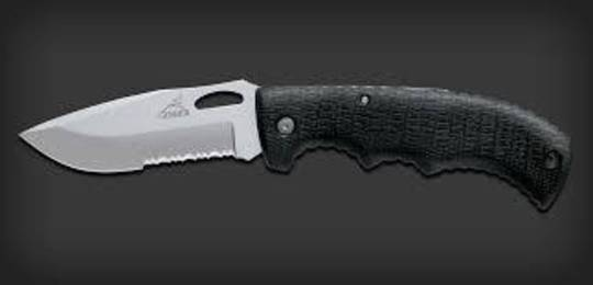 Gerber Gator II Drop point Serrated Edge Folding Knife no Box - 22-1413