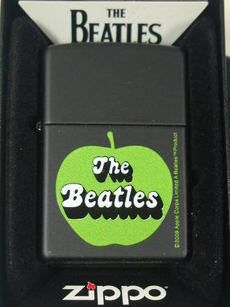 ==FREE FUEL==Zippo Beatles Green Apple Black Matte Lighter