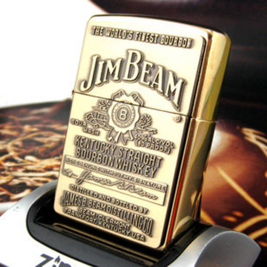 Zippo Jim Beam Emblem Brass Lighter