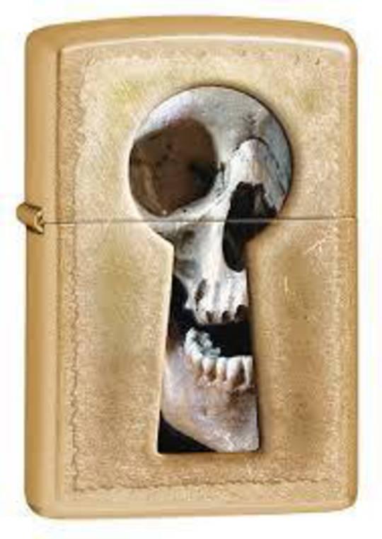 Zippo Keyhole Skull Lighter