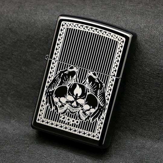 Zippo Skulls Ebony Lighter - 28678