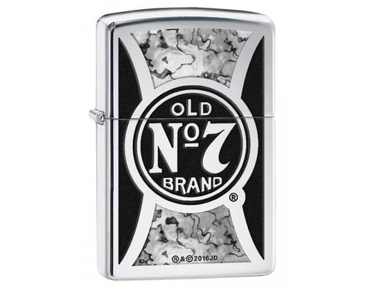 Zippo Jack Daniels, Fusion - High Polish Chrome Lighter