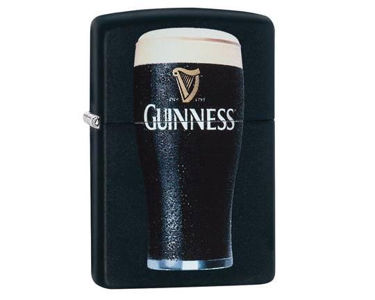 Zippo Guinness Beer Glass Black Matte