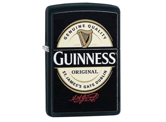 Zippo Guinness Black Matte Lighter