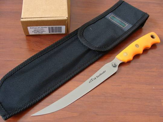 Knives of Alaska Steelheader Orange Suregrip Knife - 316FG