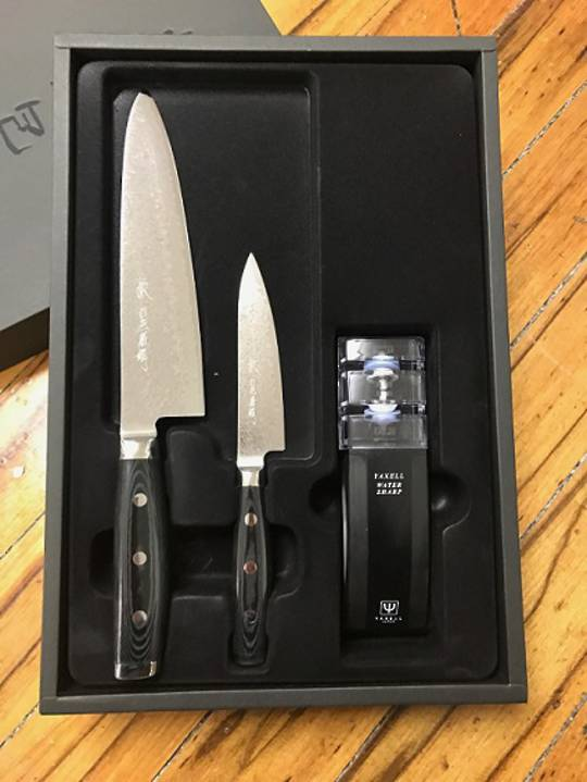 GOU Damascus Chef Knife 3PC Gift Set