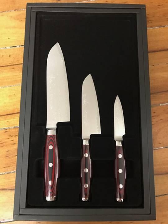 Super GOU Japanese Damascus 3PC Gift Set