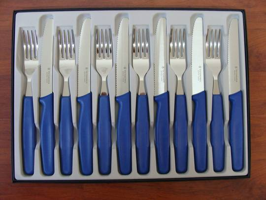 Victorinox Steak 12 Pc Knife and Fork Set