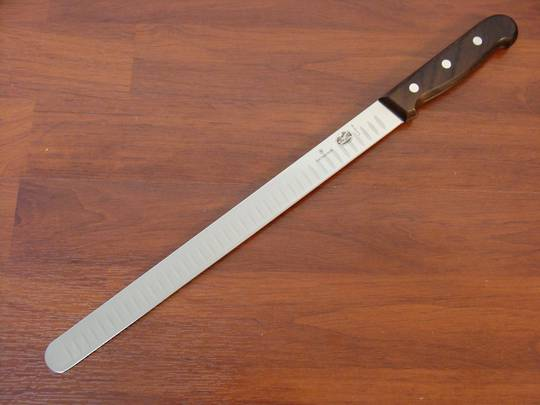 Victorinox Salmon Knife Fluted Edge 30cm Rosewood