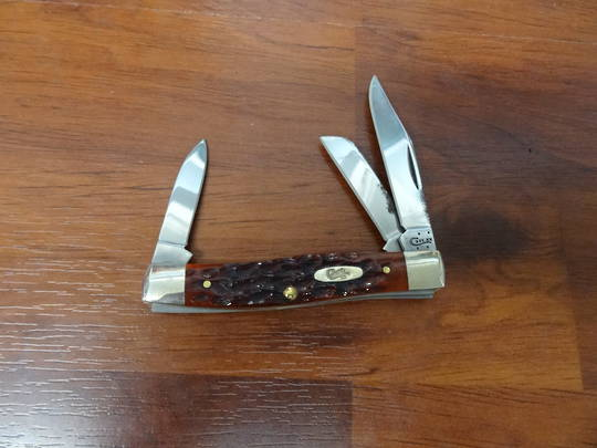 CASE CUTLERY Medium Stockman CV Chestnut Bone Pocket Knife - 7008