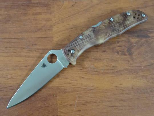 Spyderco Endura 4 Full-Flat Ground Folding Knife, DESERT CAMO ZOME FRN