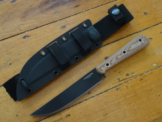 Condor Skirmish Knife, Micarta Handles, MOLLE Compatible Kydex Sheath