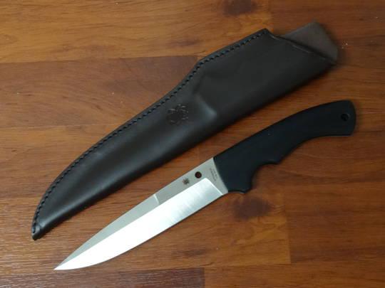 Spyderco Stuart Ackerman Sustain Fixed CPM 20CV Blade, G10 Handles