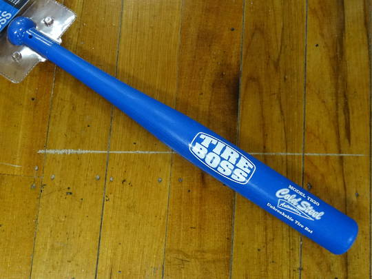 "Cold Steel Tire Boss 20"" Unbreakable Tire Bat, Blue"