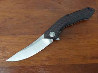 Zero Tolerance Dmitry Sinkevich Flipper CPM-20CV Two-Tone Blade, Red Carbon Fiber/Titanium Handles