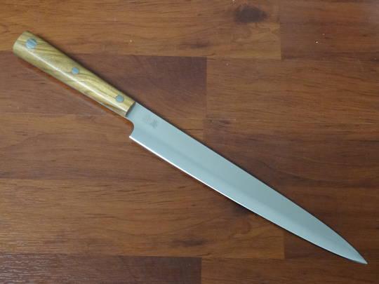 """Due Cigni  """"Hakucho"""" Serie Sashimi Olive Wood Handle"""