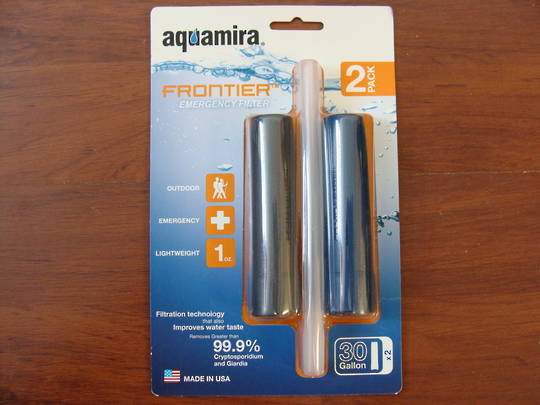 Aquamira Frontier Emergency Filter Two Pack