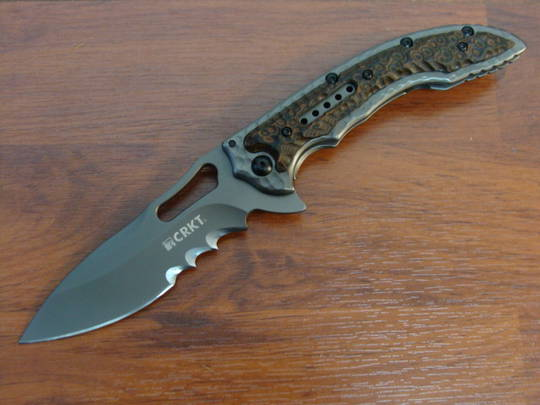 CRKT  IKoma Fossil Folding Knife - 5471K