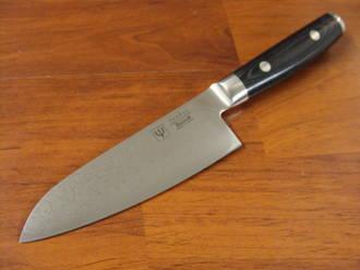 RAN Japanese DAMASCUS SMALL SANTOKU KNIFE 125mm