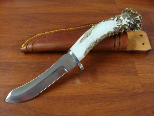 Silver Stag Bull Nose Knife