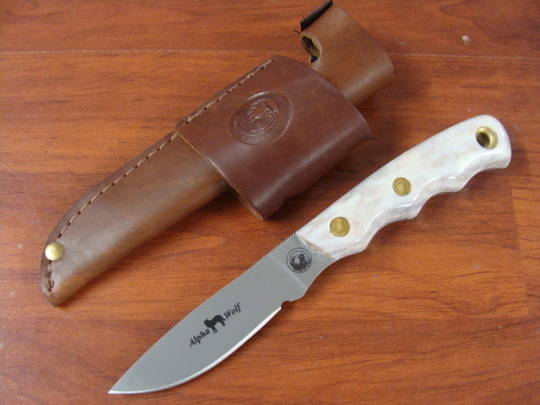 Knives of Alaska Alpha Wolf D2 Stag Knife - 327FG