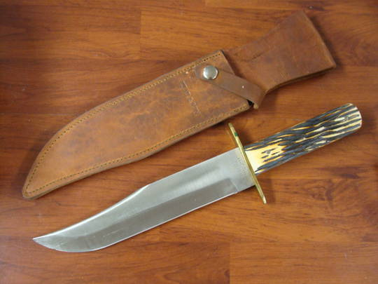 Bear & Son American Bowie Genuine India Stag Knife