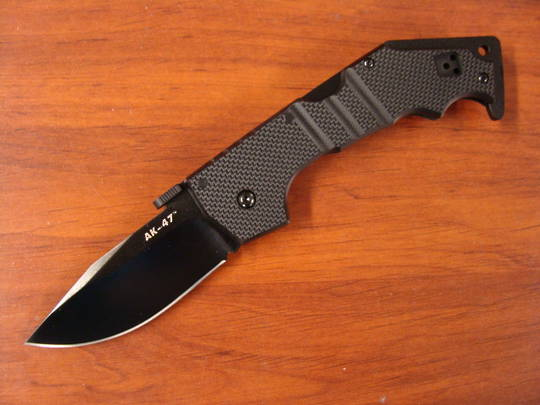 "Cold Steel AK-47 Folding Knife 3.5"" S35VN Black DLC Blade"