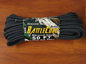 ARM BattleCord/ Battle cord 2,650 lbs Tested - Black