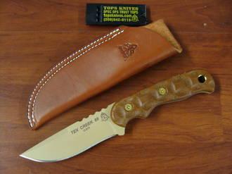 TOPS Tex Creek 69 Tan Blade/Handle