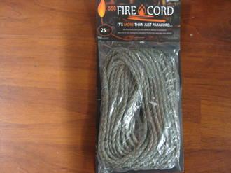 550 Fire Cord / Firecord 25ft - Digital Camo