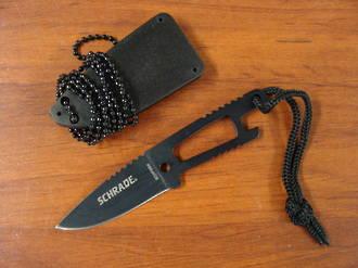 Schrade Mini Neck Knife Black W/ Sheath