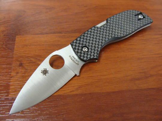 Spyderco Chaparral Folding Knife, Carbon Fiber Handles