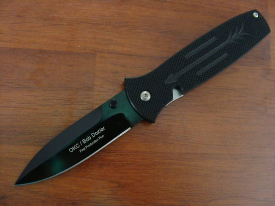 Ontario Dozier Arrow SP G10, D2 steel Black Blade