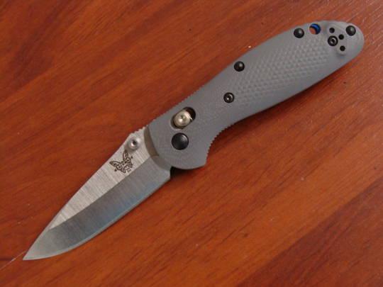 Benchmade Mini Griptilian Gray G10 Handles CPM-20CV Blade