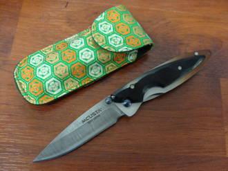 Mcusta Kasumi Folding Knife, African Ebony Wood Handles
